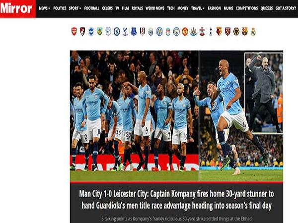 """Man City thắng nhờ """"siêu phẩm thập kỷ"""""""